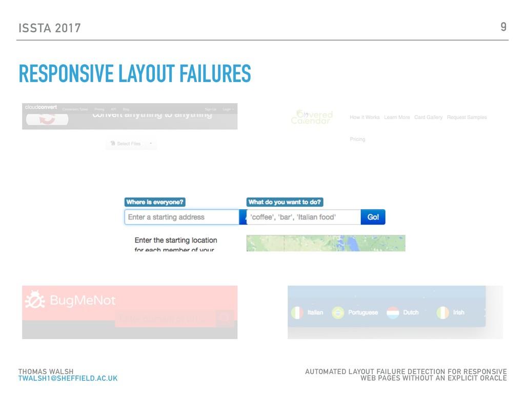 ISSTA 2017 RESPONSIVE LAYOUT FAILURES 9 THOMAS ...