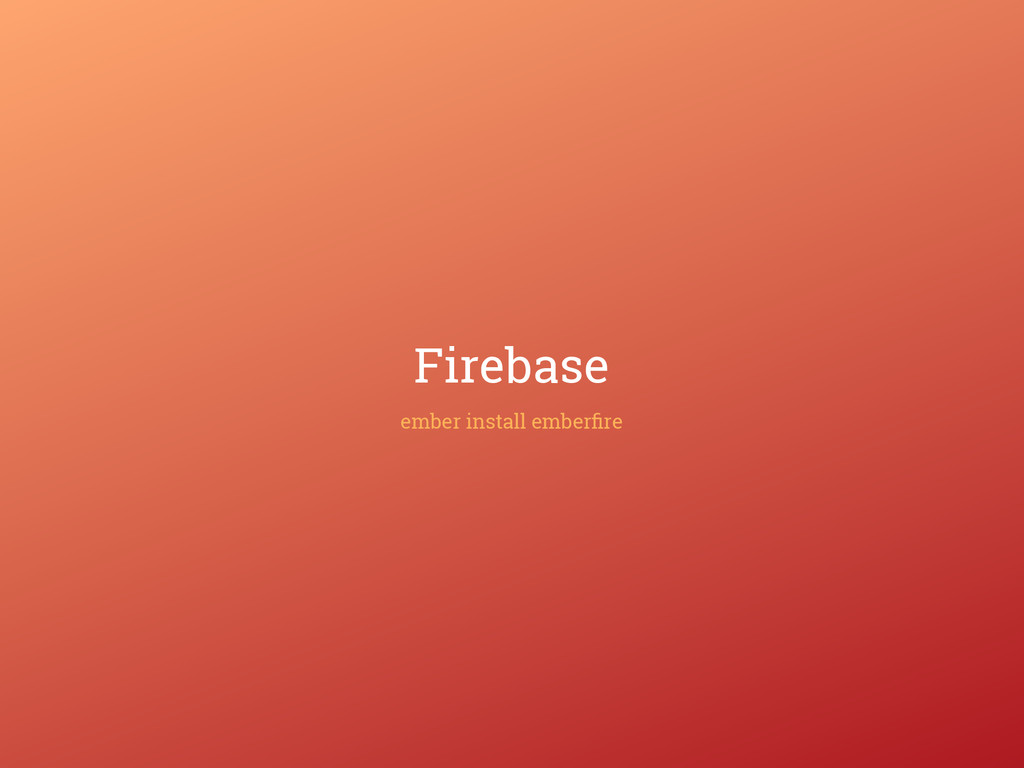 Firebase ember install emberfire