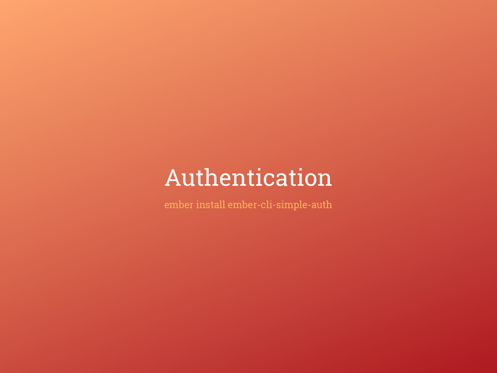 Authentication ember install ember-cli-simple-a...