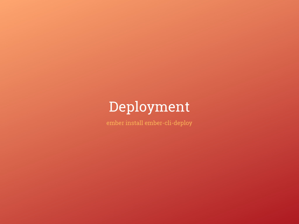 Deployment ember install ember-cli-deploy