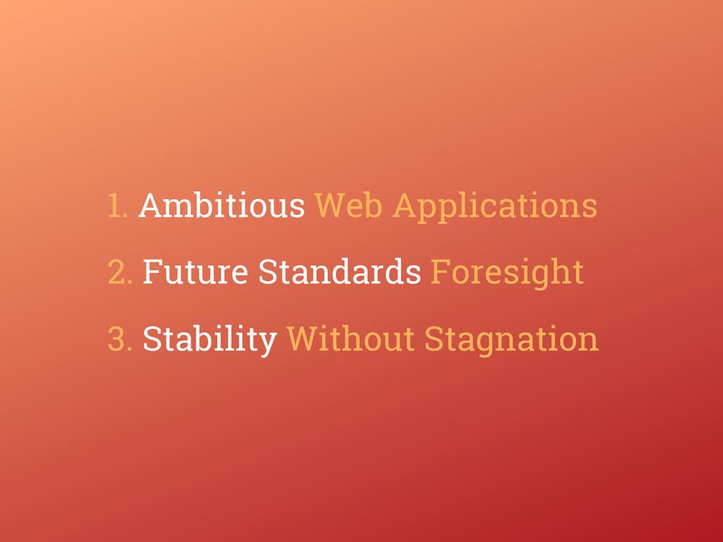 1. Ambitious Web Applications 2. Future Standar...