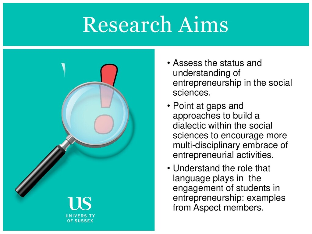 Research Aims • Assess the status and understan...