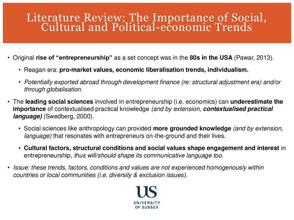 "• Original rise of ""entrepreneurship"" as a set ..."
