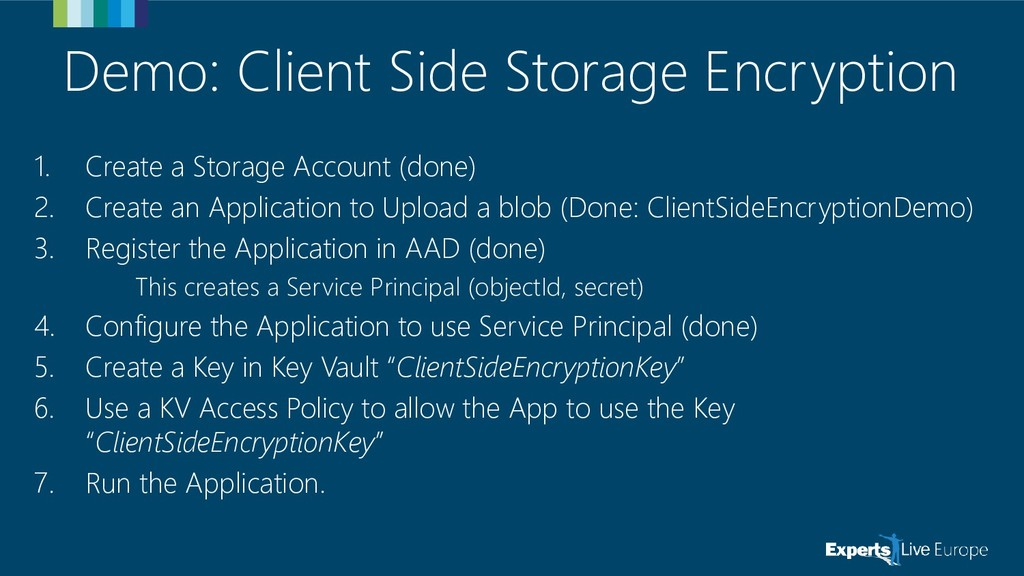 Demo: Client Side Storage Encryption 1. Create ...