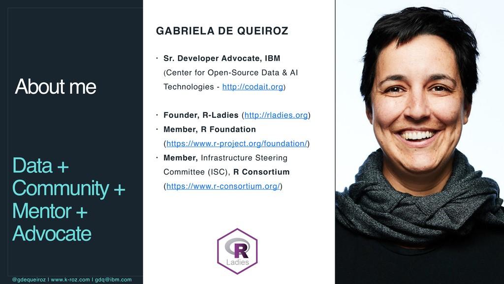 GABRIELA DE QUEIROZ • Sr. Developer Advocate, I...