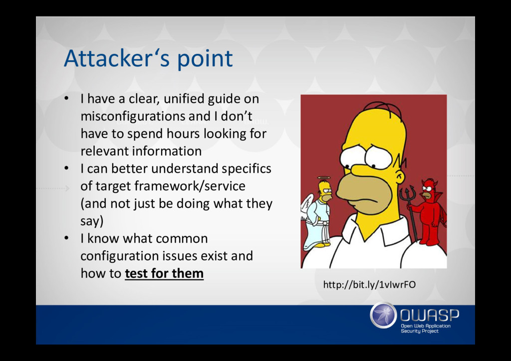Attacker's point • I have a clear, unified guid...