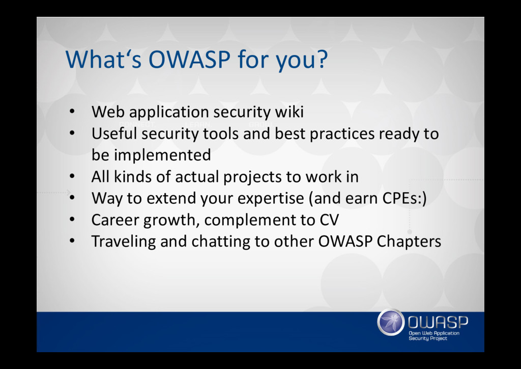 What's OWASP for you? • Web application securit...