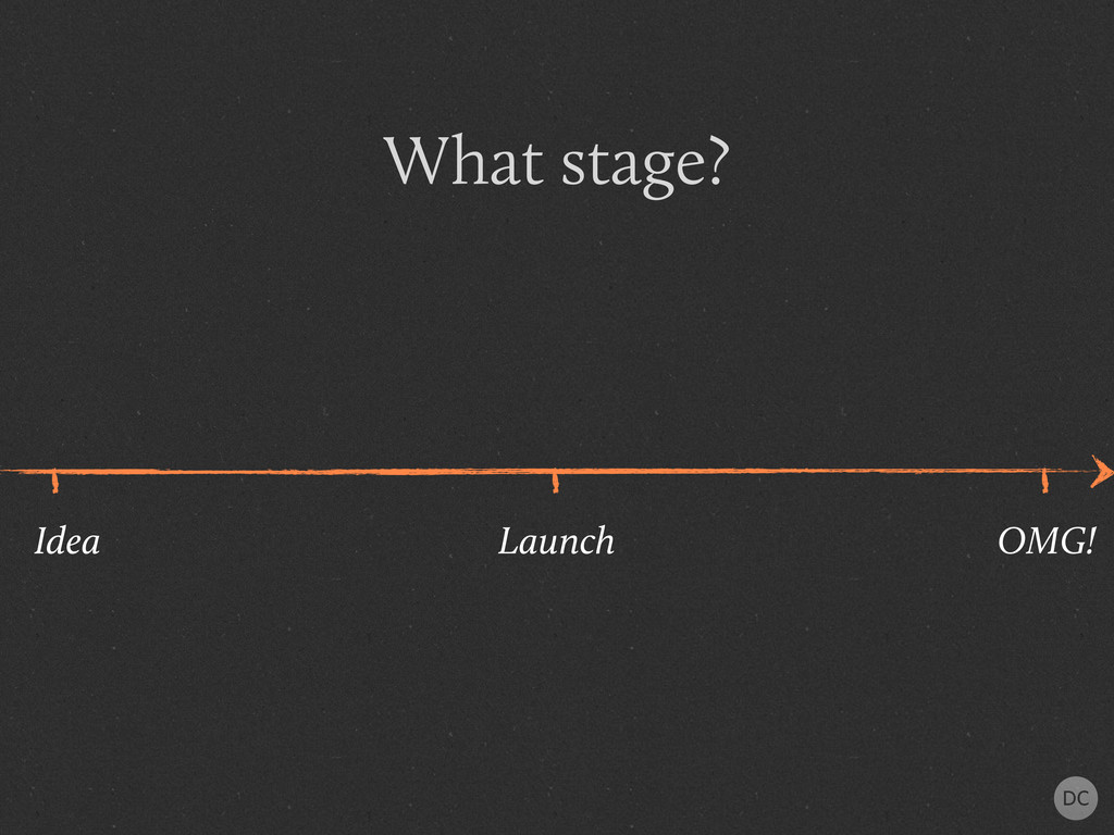 What stage? Idea Launch OMG!