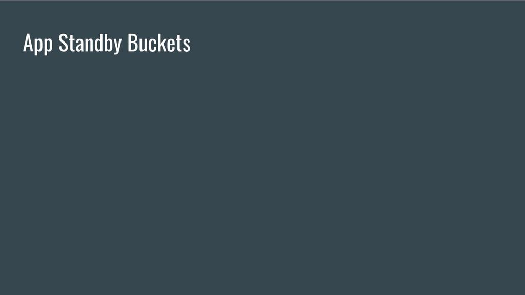 App Standby Buckets