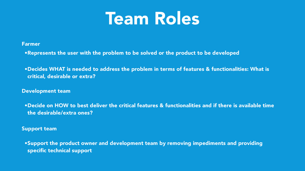 Team Roles Farmer • Represents the user with th...