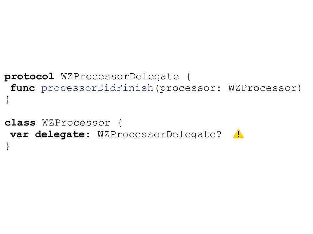 protocol WZProcessorDelegate { func processorDi...