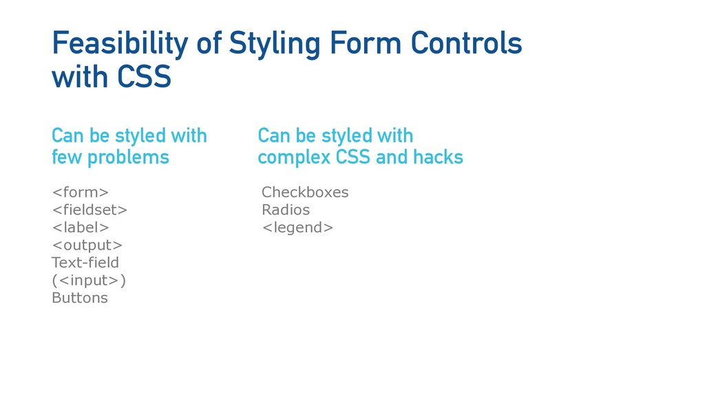 <form> <fieldset> <label> <output> Text-field (...