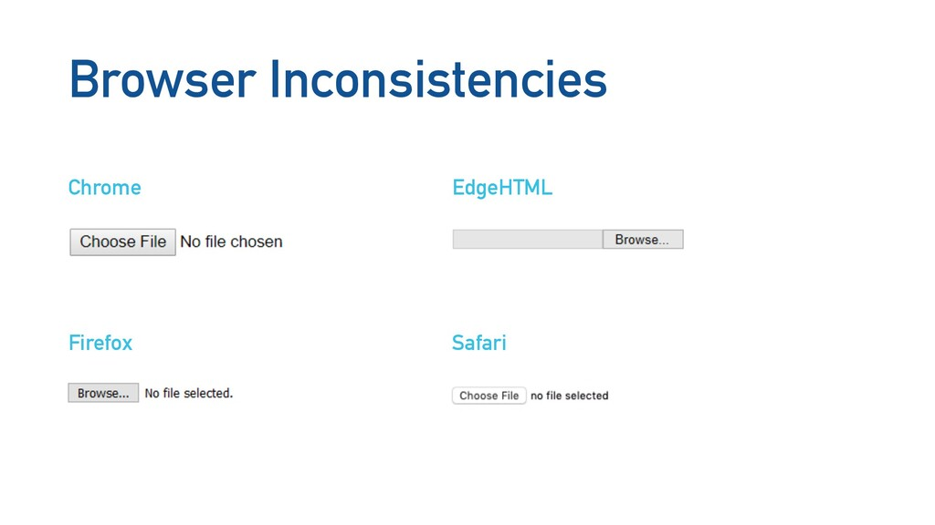 Browser Inconsistencies Chrome EdgeHTML Firefox...