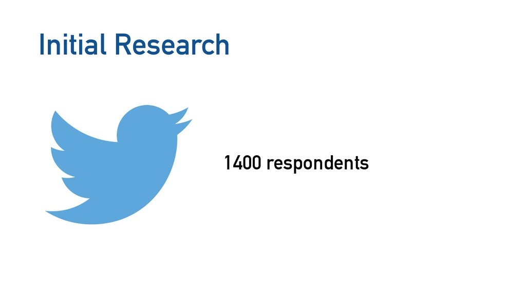 Initial Research 1400 respondents