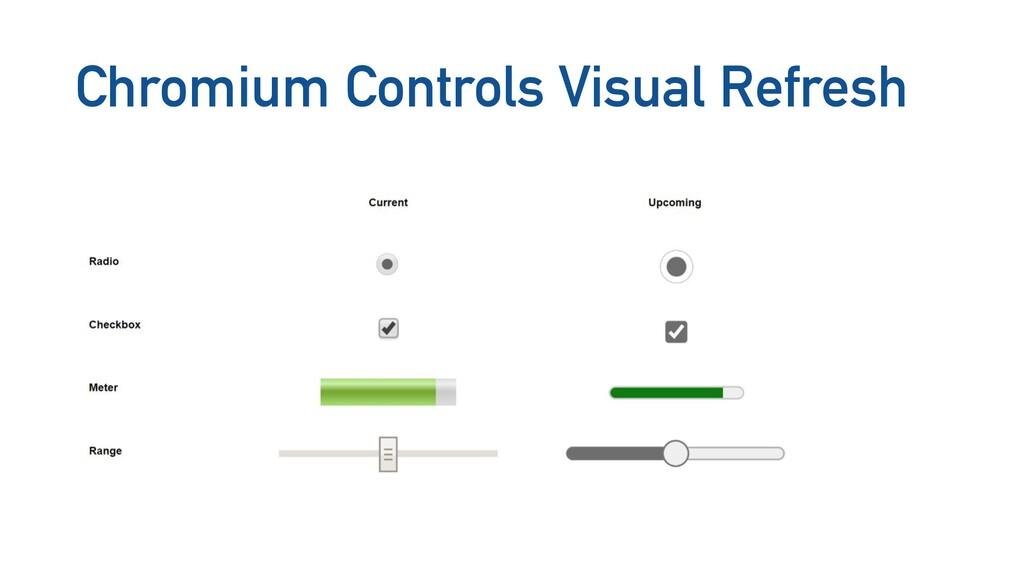 Chromium Controls Visual Refresh