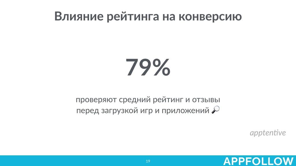 19 Влияние рейтинга на конверсию 79% проверяют ...