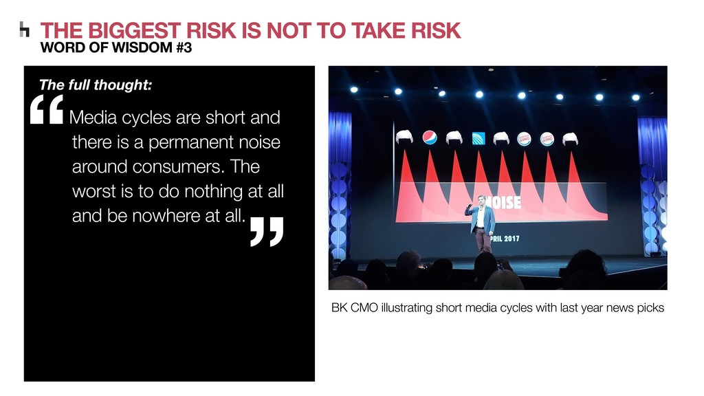 THE BIGGEST RISK IS NOT TO TAKE RISK WORD OF WI...