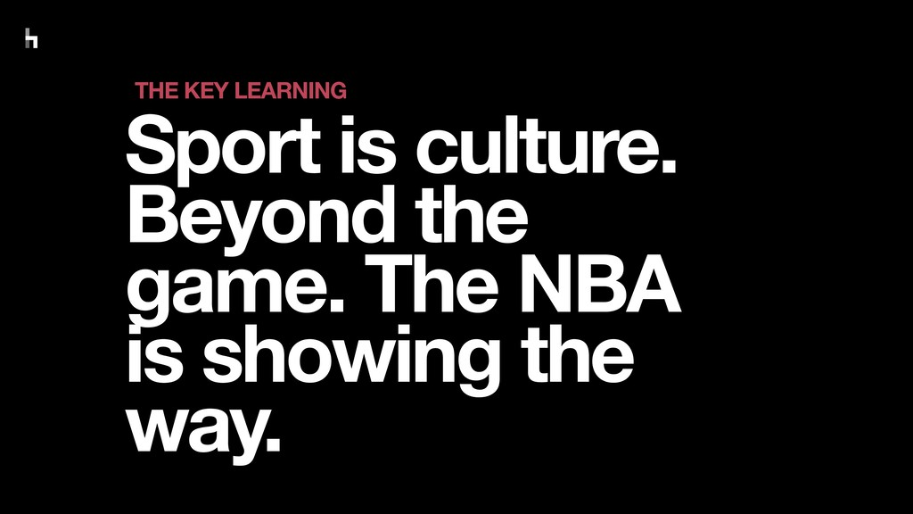 Sport is culture. Beyond the game. The NBA is s...