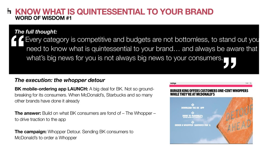 KNOW WHAT IS QUINTESSENTIAL TO YOUR BRAND WORD ...