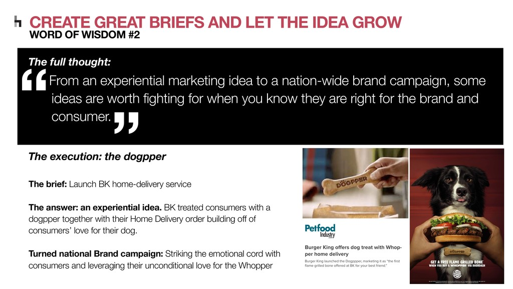 CREATE GREAT BRIEFS AND LET THE IDEA GROW WORD ...