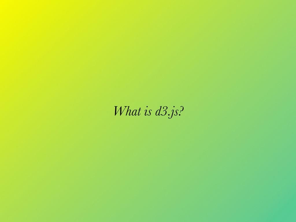 What is d3.js?