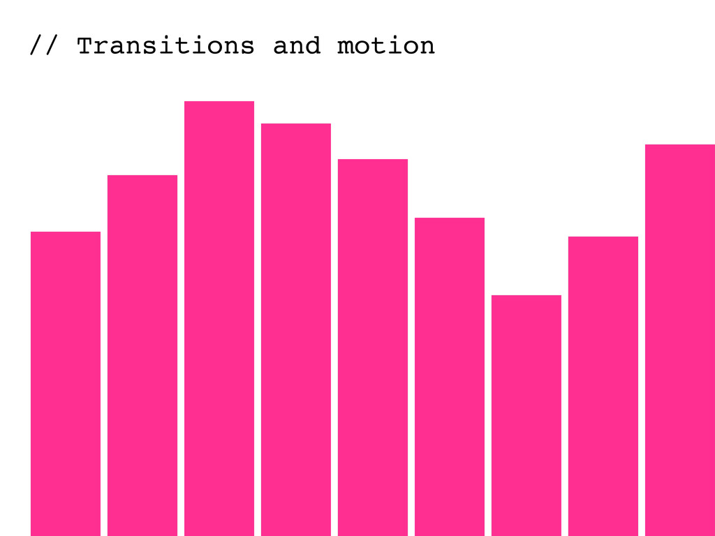 // Transitions and motion