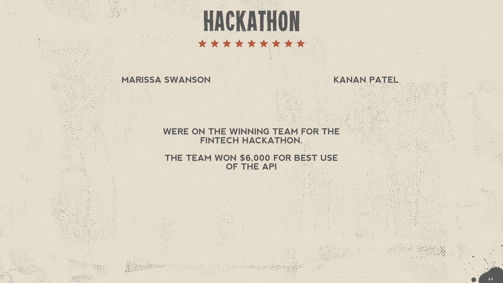 KANAN PATEL WERE ON THE WINNING TEAM FOR THE FI...