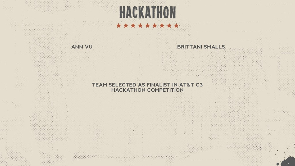 TEAM SELECTED AS FINALIST IN AT&T C3 HACKATHON ...