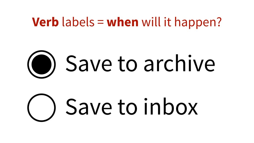 Save to archive Save to inbox Verb labels = whe...