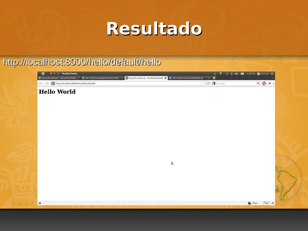 Resultado Resultado http://localhost:8000/hello...