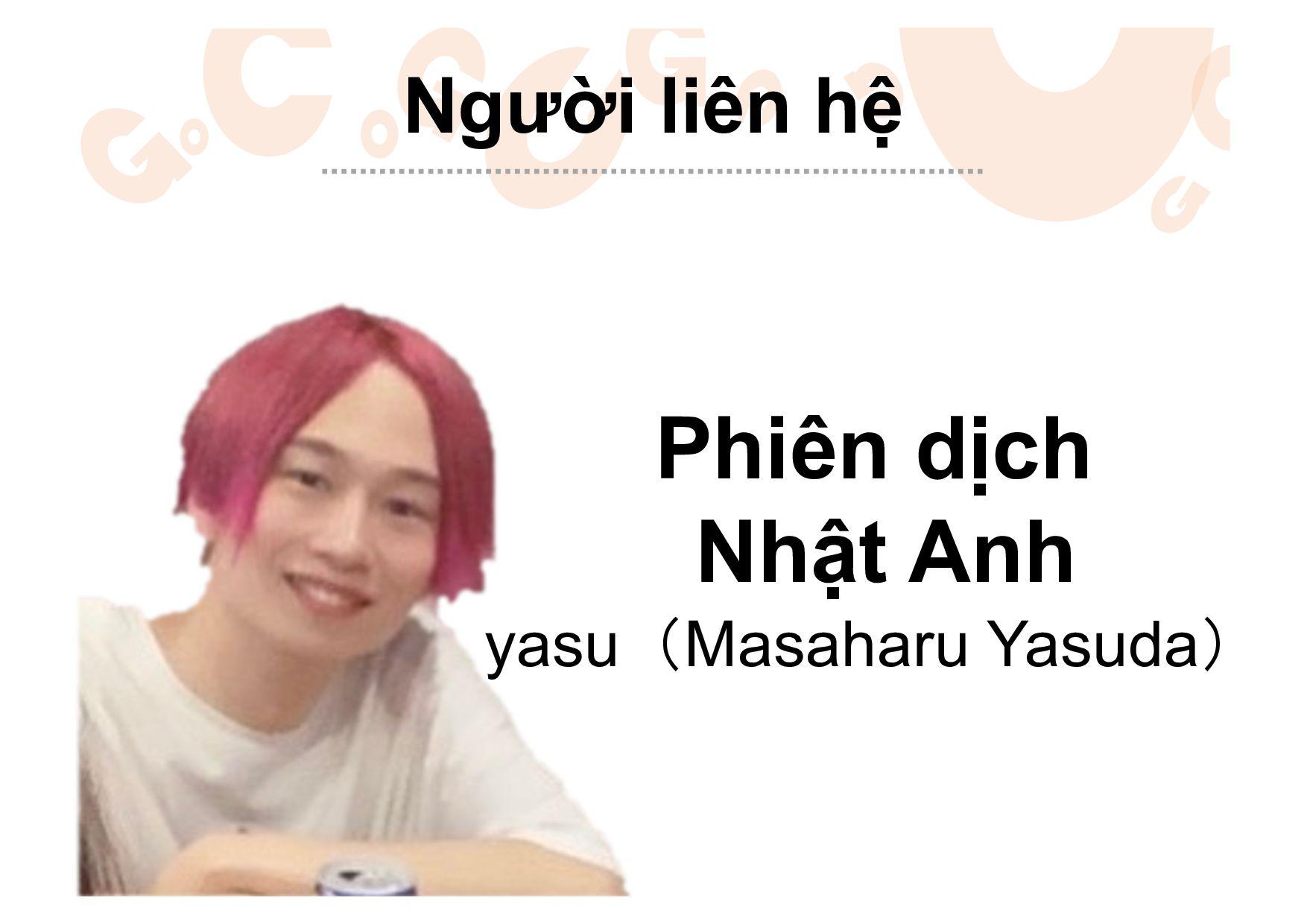 Phiên dịch Nhật Anh Michael Worku Người liên hệ