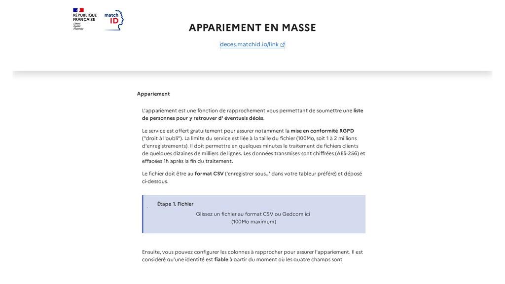 RÉPUBLIQUE FRANÇAISE APPARIEMENT EN MASSE Appar...