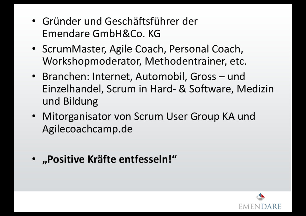 • Gründer und Geschäftsführer der Emendare GmbH...