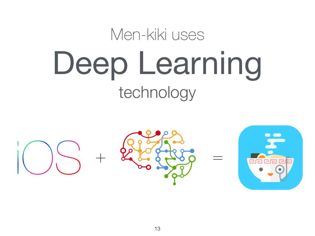 13 Men-kiki uses Deep Learning  technology ʴ ʹ