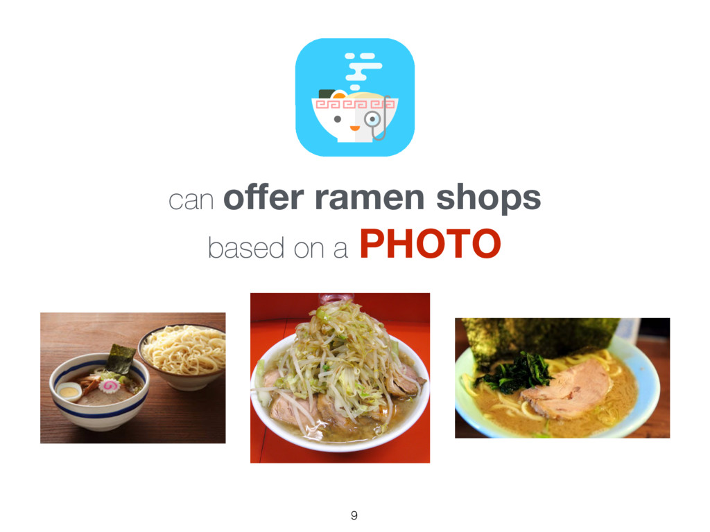 can offer ramen shops based on a PHOTO 9