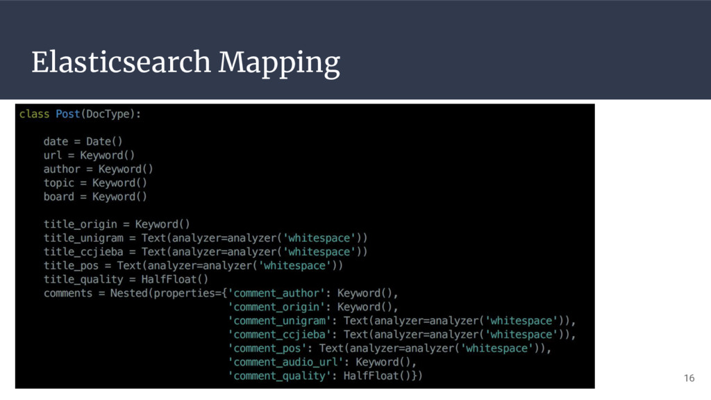 Elasticsearch Mapping 16