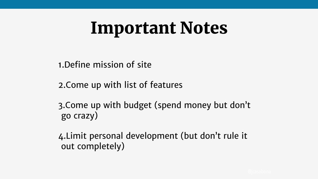 @jcasabona Important Notes 1.Define mission of s...