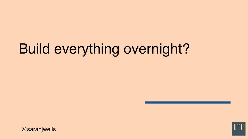 @sarahjwells Build everything overnight?