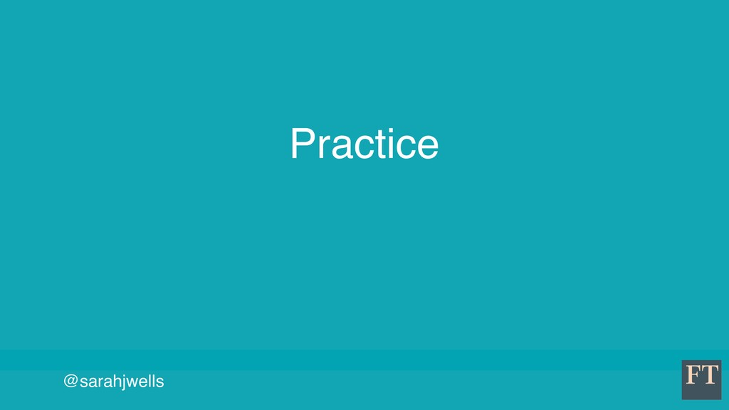 @sarahjwells Practice