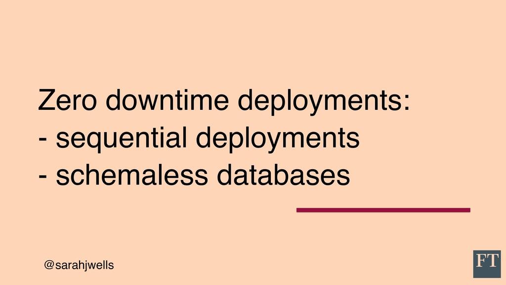 @sarahjwells Zero downtime deployments: - seque...