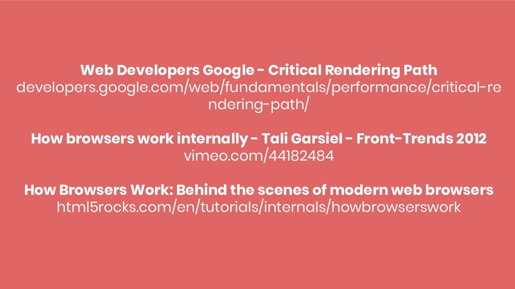 Web Developers Google - Critical Rendering Path...