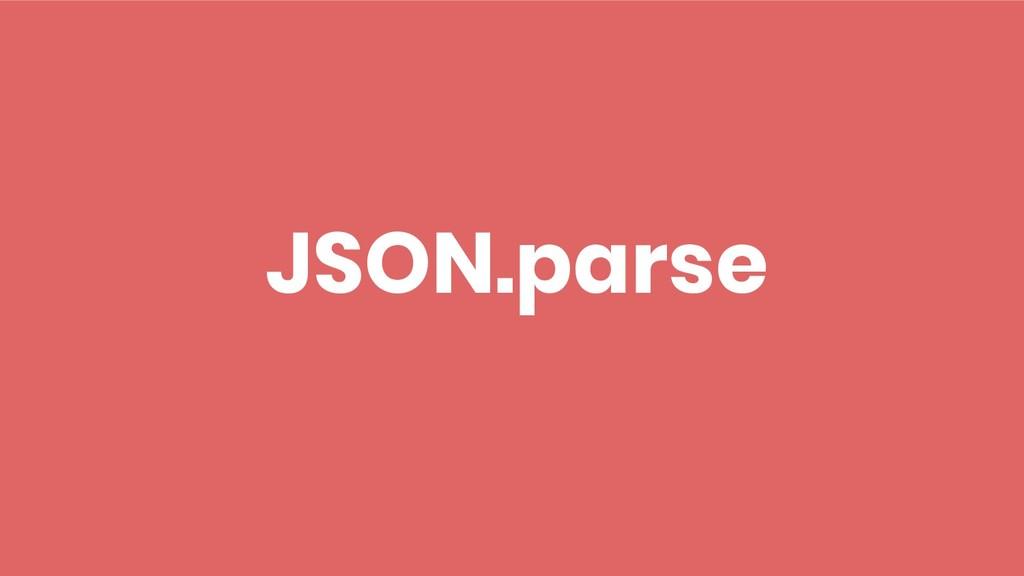JSON.parse