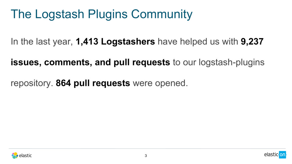 In the last year, 1,413 Logstashers have helped...
