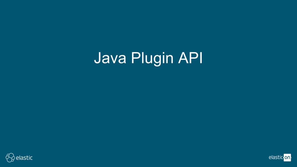 Java Plugin API
