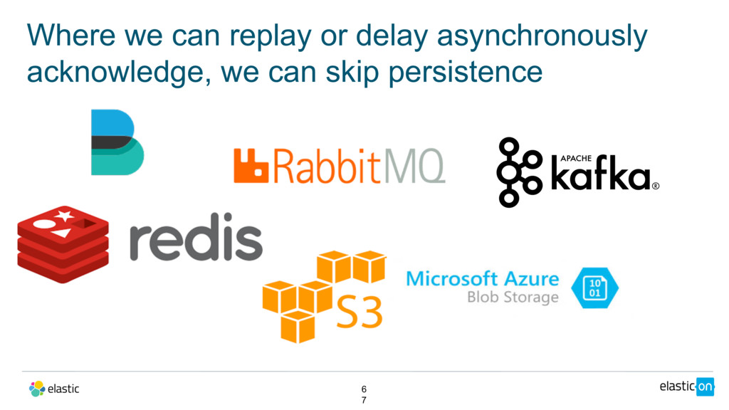 Where we can replay or delay asynchronously ack...