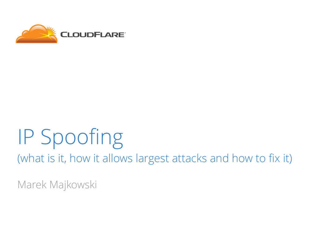 IP Spoofing (what is it, how it allows largest a...