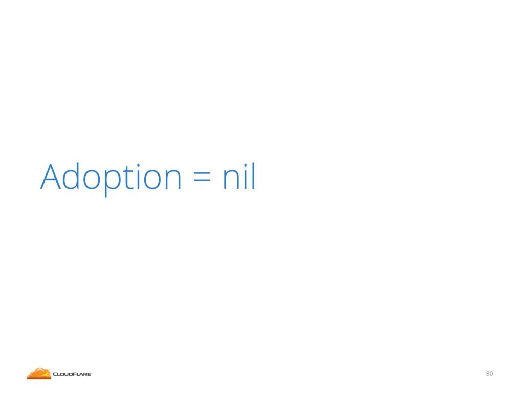 80 Adoption = nil
