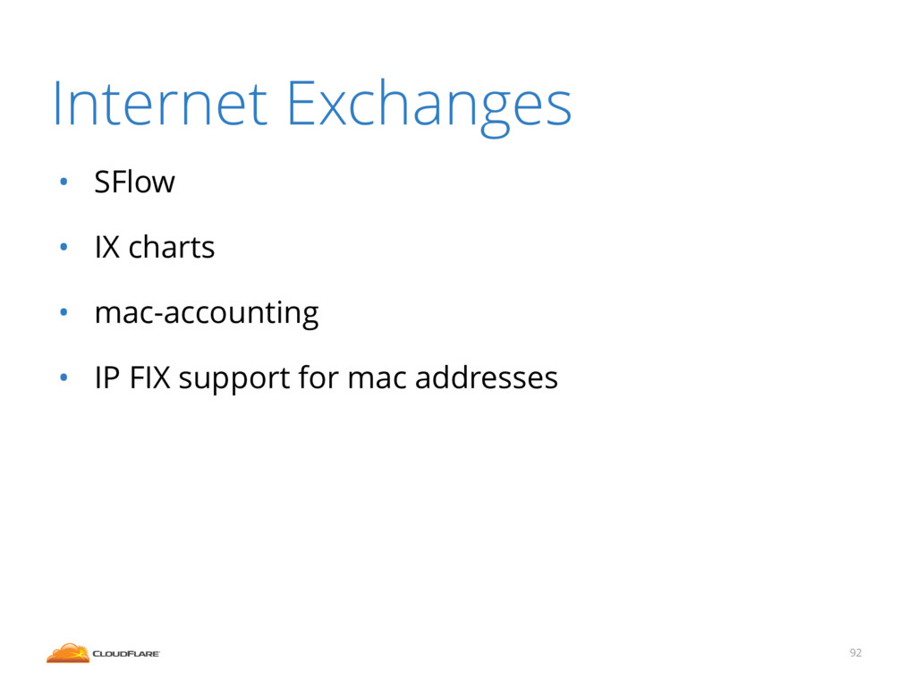 Internet Exchanges • SFlow • IX charts • mac-ac...