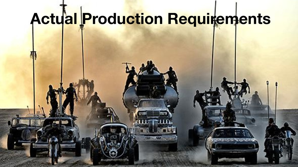 Actual Production Requirements