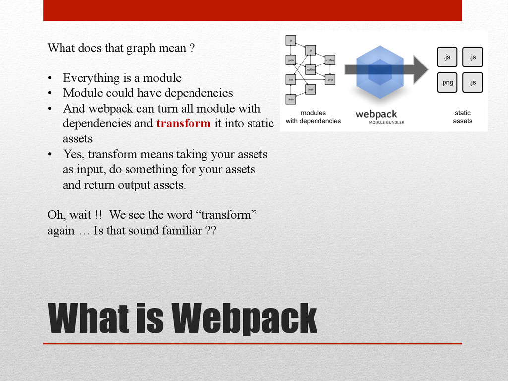What is Webpack What does that graph mean ? • ...